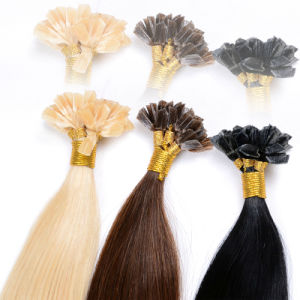 Keratin U Tip 1 Gram Each Strand Nail Tip Fusion Human Hair Extension Brazilian Straight Virgin Hair pictures & photos