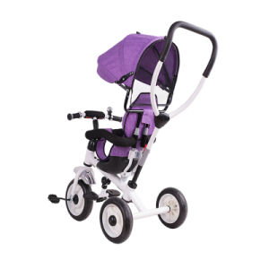 3 Wheel Baby Tricycle with Canopy and Basket pictures & photos