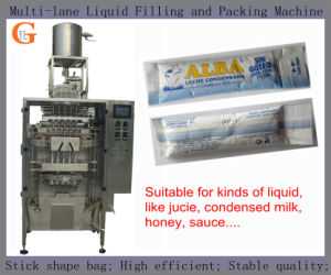 Stick-Shape Condensed Milk/Honey Packing Machine (multi lanes;) pictures & photos