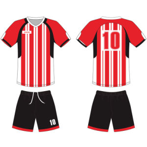Custom Sublimation Football Outfits Soccer Uniform T Shirt for Team pictures & photos