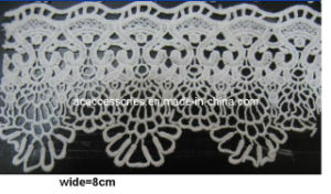 100% White Crochet Western Chemical Lace (CCT00157/3)