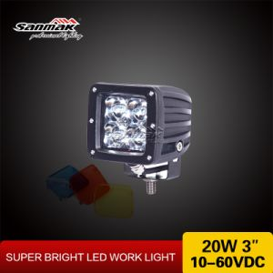 3′′ 20W Square Colorful Cover CREE LED Work Light Sm6203b pictures & photos