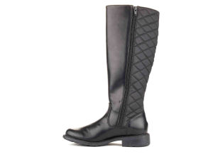 Flat Heel Fashion Lady Black Women Boots (HT10012-4) pictures & photos