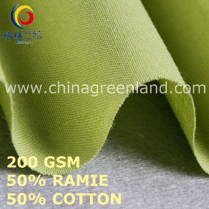 Cotton Ramie Solid Plain Fabric for Clothes Garment (GLLML453) pictures & photos