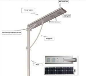 Integrated PIR Sensor Solar Light with CE (30W) pictures & photos