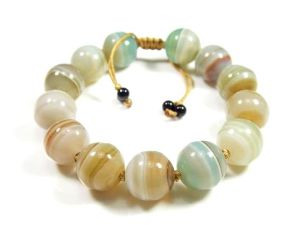 Xg-Be106 Precious Agate Beaded Bracelets