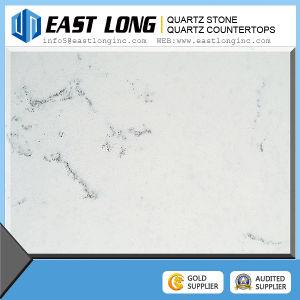 Popular Calacatta Artificial Quartz Stone Slab Tce White Quartz Stone pictures & photos