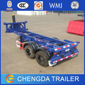 2axle 20feet Skeleton Container Tipper Chassis Trailer for Sale pictures & photos