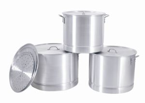Cookware / Aluminum Stock Pot Set with Steamer (MY64-100--3) pictures & photos