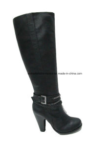New Fashion Women Wholesale Chunky High Heel Overknee Boots pictures & photos