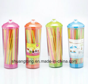 Hot Barrel Packed Plastic Drinking Straw pictures & photos