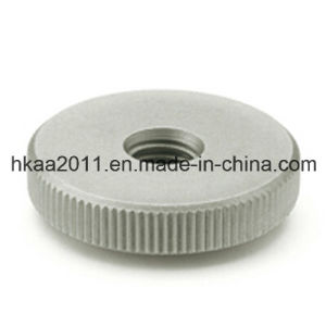 Precision Custom Flat Knurled Nut, Stainless Steel Knurling Nut Manufacturer pictures & photos