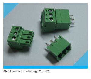 3.5mm Green Pluggable Type Screw Terminal Block Connector pictures & photos