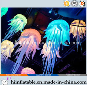 2015 Hot Selling Decorative LED Lighting Inflatable Jellyfish 0001 for Event, Celebration