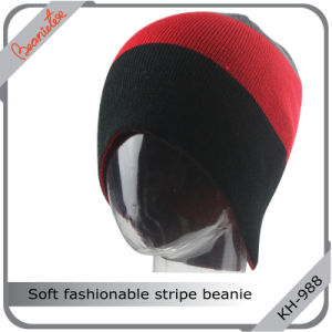 Soft Fashionable Stripe Beanie Hat
