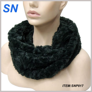 Hot Selling Winter Fashion Faux Fur Infinity Scarf (SNP017) pictures & photos