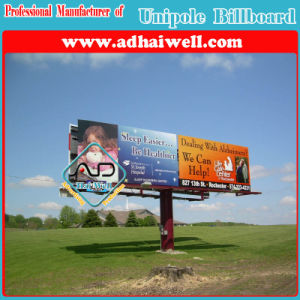 Outdoor Single Pole Advertising Trivision/ Display/ Sign Billboard pictures & photos