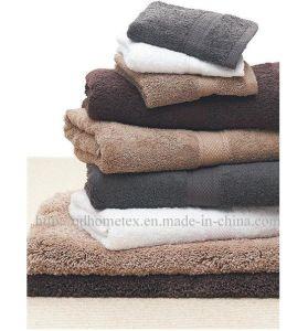 Egyptian Cotton Plain Dyed Bath Towel With Dobby Border - 1