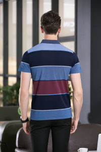 Block Striped Printing Polo Tee Shirt with Short Sleeve for Man pictures & photos