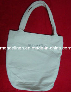 Reusable Linen Handbag with Round Bottom (SH--01)