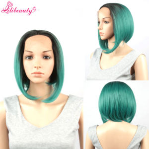 100% Virgin Human Hair Full Lace Wig Green Bob Wig pictures & photos