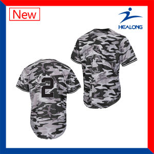 Healong Fresh Design Apparel Gear Sublimation Printing Men′s Baseball Shirts pictures & photos