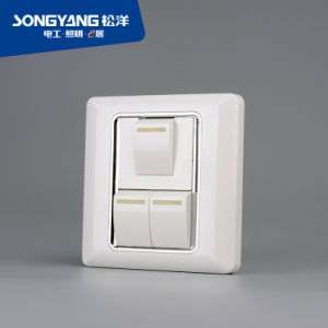 Flame Retardant PC Plastic Series 3gang Switch