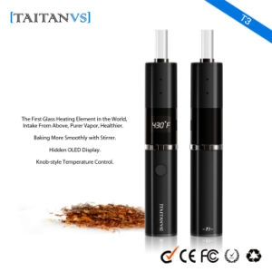 Hidden OLED Display 1200mAh Electronic Cigarette Dry Herb Vaporizer pictures & photos