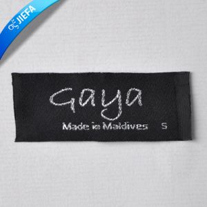 Gold String Clothing Garment Woven Main Label Tags pictures & photos