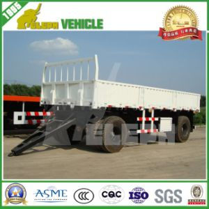 Full Type 2 Axles Flatbed Tow Bar Trailer pictures & photos