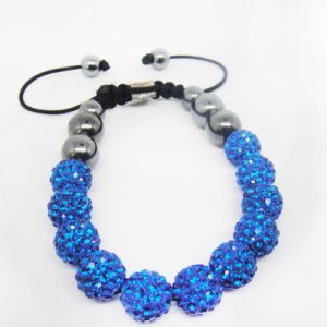 Fashion OEM Blue Shamballa Bracelet, pictures & photos
