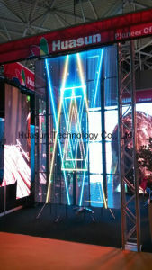 Indoor Advertising LED Display for Glass Window in Shopping Mall pictures & photos