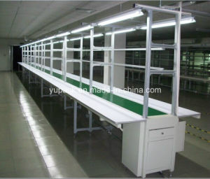 Automatic Assembly Belt Conveyor with Work Bench/ Assembly Work Bench pictures & photos