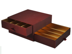 Empty Gold Metallic Paper Cheese Drawer Box pictures & photos
