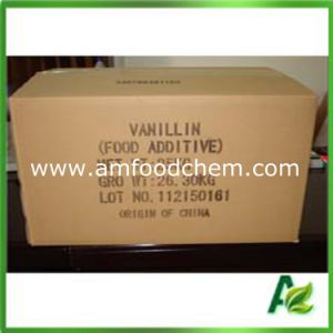 Food Grade Additive Flavors Vanillin Powder with FCC High Quality pictures & photos