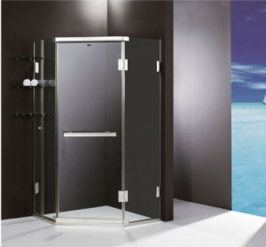 Safety Glass Shower Enclosure With CEGS Certifications Door Hinge Stainless Steel Room