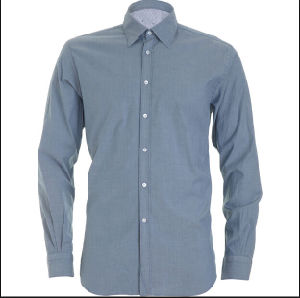 Men′s Pure Cotton Color Business Shirt with Long Sleeve pictures & photos