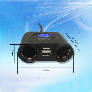 2016 The Latest 12V/24V Two in One Car Power Socket with LED Light pictures & photos