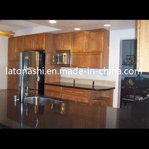 Cheap Prefab Black Galaxy Granite Stone Kitchen Counter Vanity / Top pictures & photos