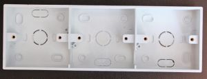 Cheap Price PVC 3 Gang Surface Mount Wall Switch Boxes pictures & photos