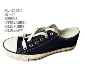 No. 47453 Two Color Stock Men Canvas Shoes pictures & photos
