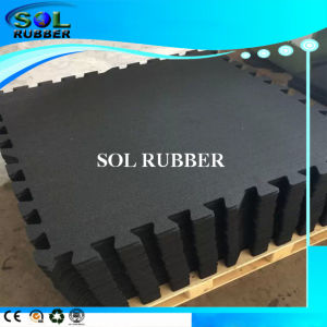 High Density Fire Resistant Gym Fitness Interlock Rubber Floor pictures & photos