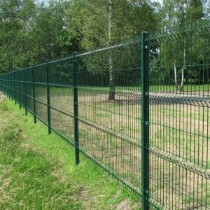 China Green Vinyl Coated Welded Wire Mesh Fence China