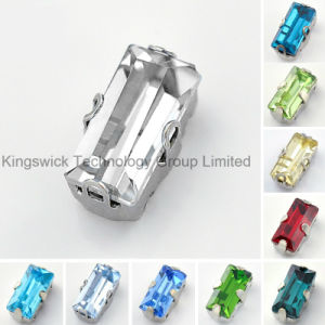 Baguette Rhinestone with Metal Claw Setting Crystal pictures & photos