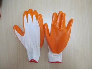 Nitrile Glove Nitril Coated Nylon Glove pictures & photos