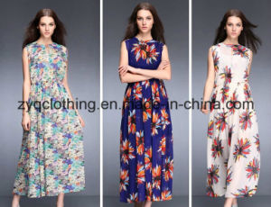 Women′s Bohemia Style Beach Dress, Sexy Floral Dress pictures & photos