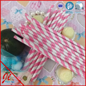 Party Red Stripe Paper Drinking Straws pictures & photos