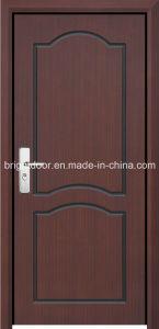 Single Solid Wooden Veneer Carving Main Door Design Models pictures & photos