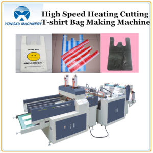 High Speed Heat Cutting T-Shirt Bag Making Machine (YXHS) pictures & photos
