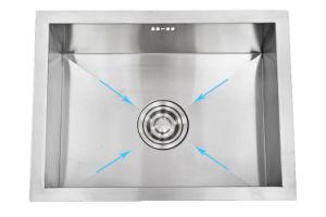 Good Price Stainless Steel Kitchen Sink with Splashback